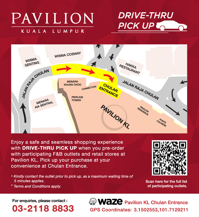 Drop By Pavilion KL's Drive-Thru For A Safe And Convenient Shopping Experience
