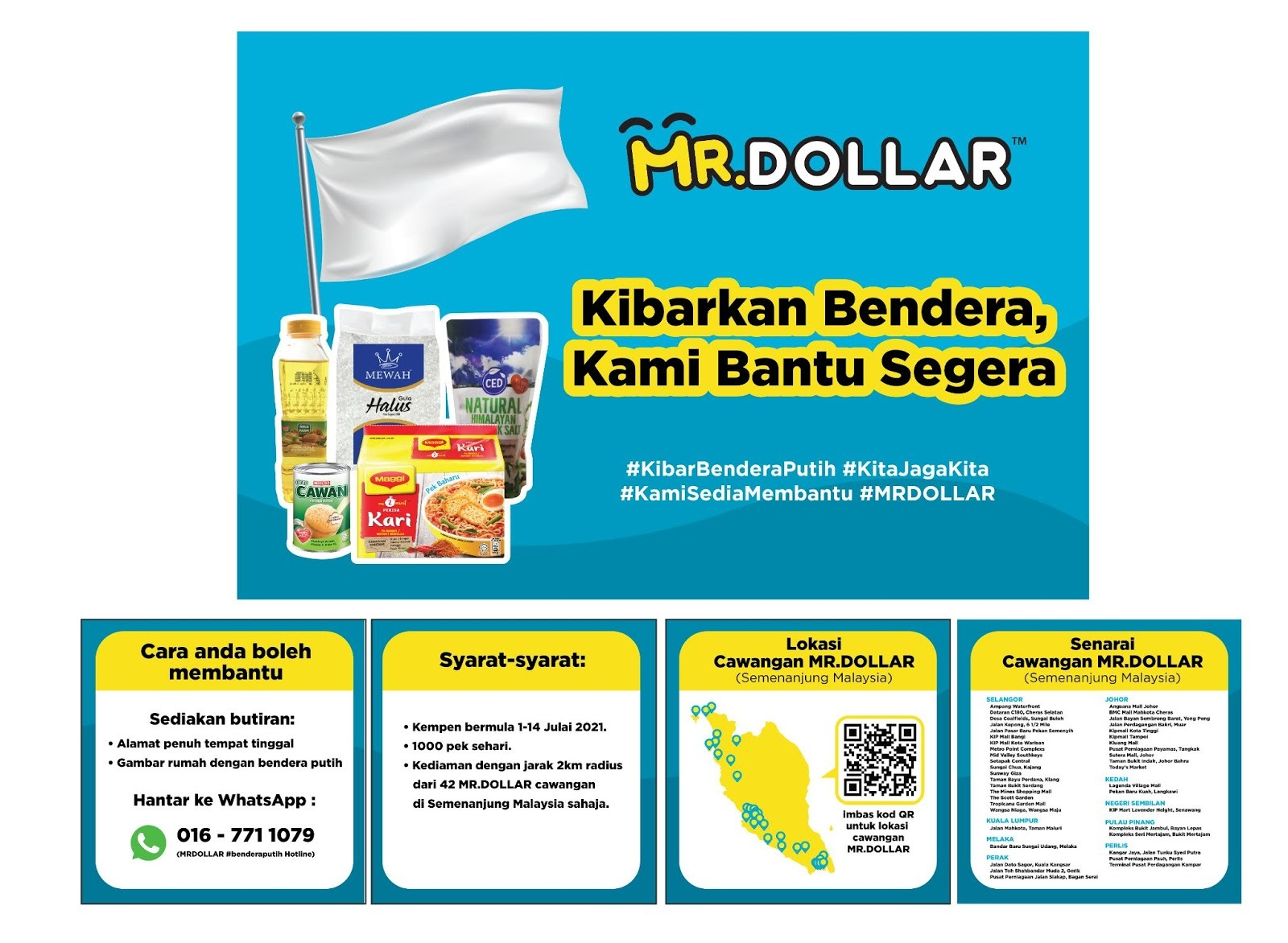 MR DOLLAR Is Offering Aid In Support Of The White Flag Campaign